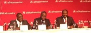 Ph: DR - Edoh Kossi (au milieu) DG de la BRVM pour une amélioration de la liquidité et de son attractivité