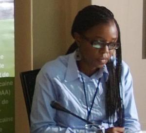 Ph: Dr - Mlle Mwanja Ng'anjo, Responsable des Communications à l'Agence du Nepad