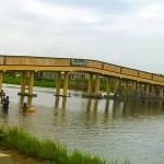 Ph/DR-: La nouvelle passerelle de Sô-Ava, de 50 mètres de long, relie désormais Vekky-Daho à Sô-Tchanhoué.