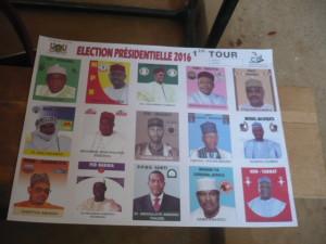 Le bulletin unique de vote pour les candidats