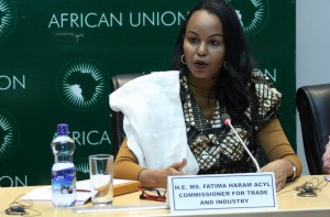 Ph/DR-: Mme Fatima Haram ACYL, Commissaire en charge du Commerce et de l'Industrie de la Commission de l'Union africaine.