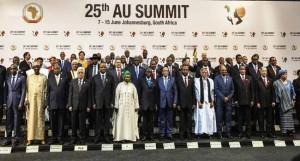 Ph/DR-: Des négociations pour la mise en œuvre de la ZLEC est prévue pour 2017 étaient au cœur des échanges à cette 25ème session ordinaire de la Conférence des chefs d'État et de gouvernement de l'Union africaine.