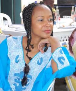 Ph/DR-: Karine Gbaguidi, présidente d'organisation  du Forum