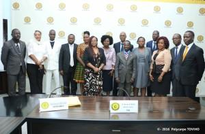 Ph/DR-: Photo de famille des représentants des deux institutions.
