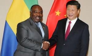 Ph:DR;Ali Bongo Ondimba le président gabonais et Xi Jinping , président chinois