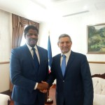 Ph:DR: De g. à dr Marcel de Souza et le président capverdien, Jorge Carlos de Almeida Fonseca