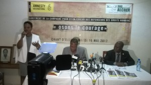 Ph/DR-: (De gauche à droite) : Messieurs, Martin Assogba de l'Ong ALCRER et Fidel Klikan, président de Amnesty International Bénin.