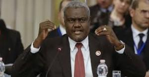 Ph/ DR-: Moussa Faki Mahamat, Président de la Commission de l'Union africaine (CUA),