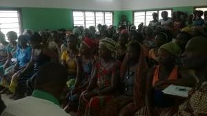 Ph: DR-: Elles sont 121 femmes rurales de Sagon à prendre part à cette rencontre du donner et du recevoir.