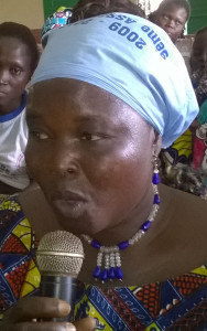 Ph: DR- Solange, cultivatrice et transformatrice du soja à Zangnanado