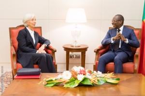 Ph: Dr-: « Les perspectives à moyen terme continuent de montrer des signes favorables, avec une croissance économique forte et une inflation faible ». dixit Christine Lagarde.