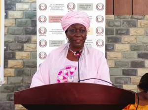 Ph: DR-: Mme Finda Koroma Vice-présidente de la Commission de la Communauté économique des Etats de l'Afrique de l'Ouest (Cedeao)