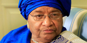 Ph:DR-: Mrs. Ellen Johnson-Sirleaf, Head of the ECOWAS Observation Mission to Nigeria