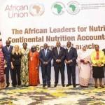 Ph: DR-: Lancement du Tableau de Bord en présence d'une assistance composée du président Botswanais, Mokgweetsi Eric Keabetswe Masisi ; plusieurs ministre africains de la santé, des représentants des partenaires au développement dont la FAO, l'OMS, le FNUAP et l'UNICEF.