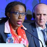 Ph: DR-: Mme Vera Songwe, Secrétaire Exécutive de la CEA et M. Zouhair Chorfile, nouveau Président,  Secrétaire général du Ministère de l'économie et des finances du Maroc à l'ouverture des travaux