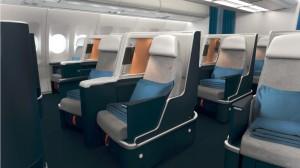 Ph: DR-: La nouvelle cabine Business est née du mariage du confort et de l'élégance tandis que...