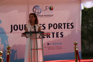 Ph:DR-: Mme Katrina Sharkey, la représentante résidente de la Banque mondiale au Bénin.