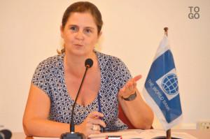 Ph/ DR: Mme Coralie Gevers, la nouvelle directrice des Opérations de la Banque mondiale pour le Bénin qui succède à M. Pierre Laporte.