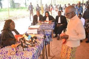 Ph:DR  A l'ouverture des travaux, Monsieur Pascal Amoussou, âgé de plus de 65 ans, le premier ayant répondu à l'appel